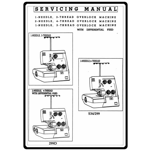 Service Manual, White 299D : Sewing Parts Online
