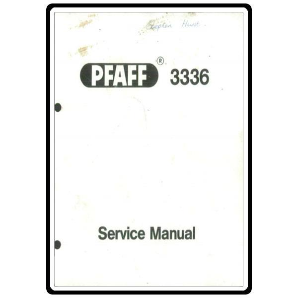 Service Manual, Pfaff 3336 : Sewing Parts Online