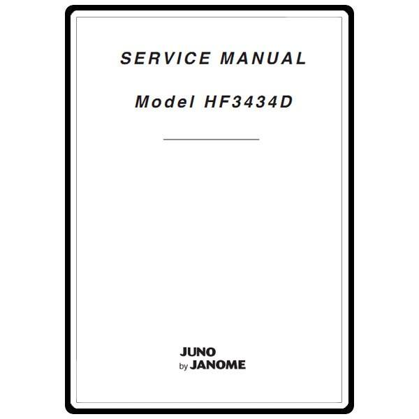 Service Manual, Janome HF3434D Juno : Sewing Parts Online