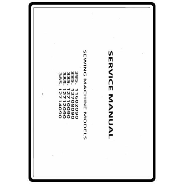 Service Manual, Kenmore 385.12710090 : Sewing Parts Online