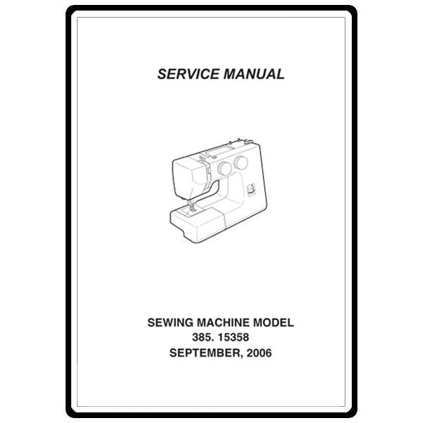 Service Manual, Kenmore 385.15358600 : Sewing Parts Online