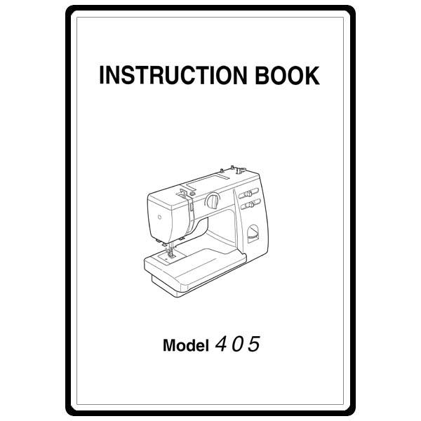 Instruction Manual, Janome 405 : Sewing Parts Online