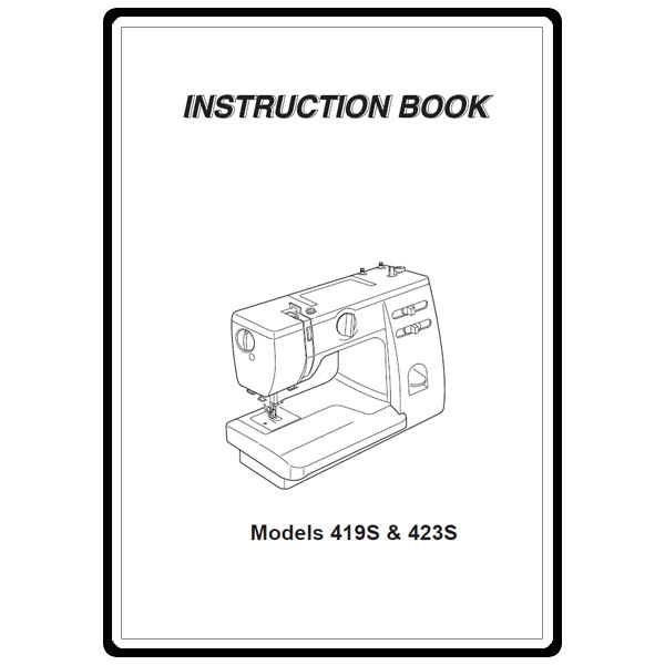 Instruction Manual, Janome 419S : Sewing Parts Online