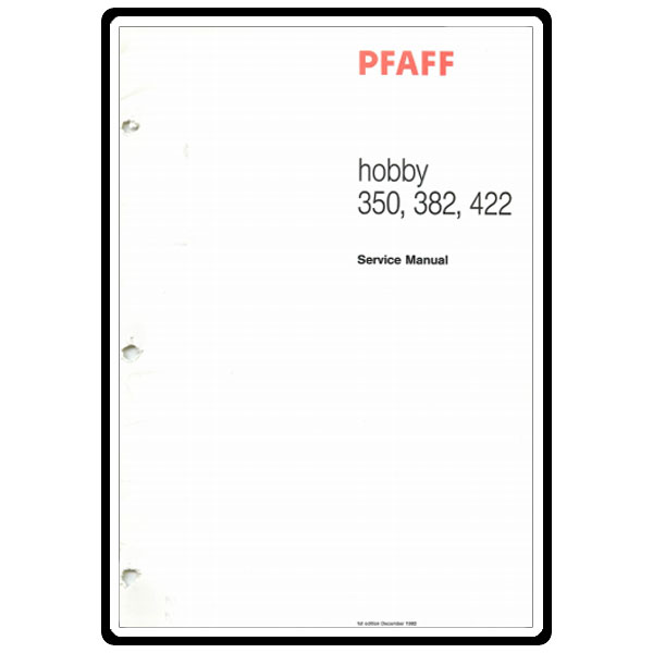 Service Manual, Pfaff 422 : Sewing Parts Online