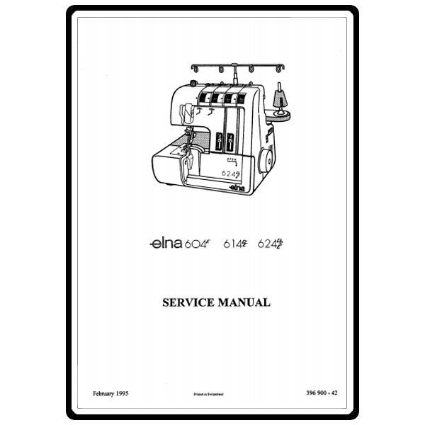 Service Manual, Elna 624DSE : Sewing Parts Online