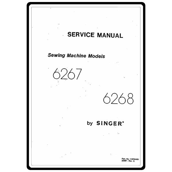 Service Manual, Singer 6268 : Sewing Parts Online