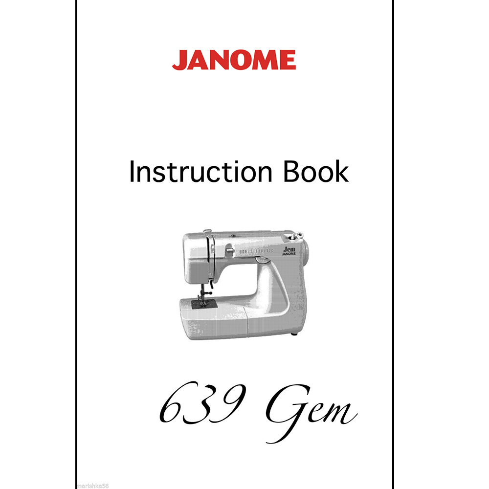 Instruction Manual, Janome 639 (Jem) : Sewing Parts Online