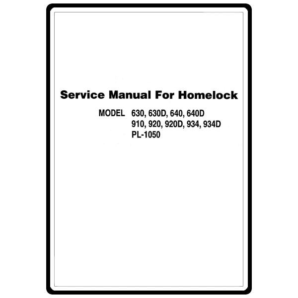 Service Manual, Brother 640 : Sewing Parts Online
