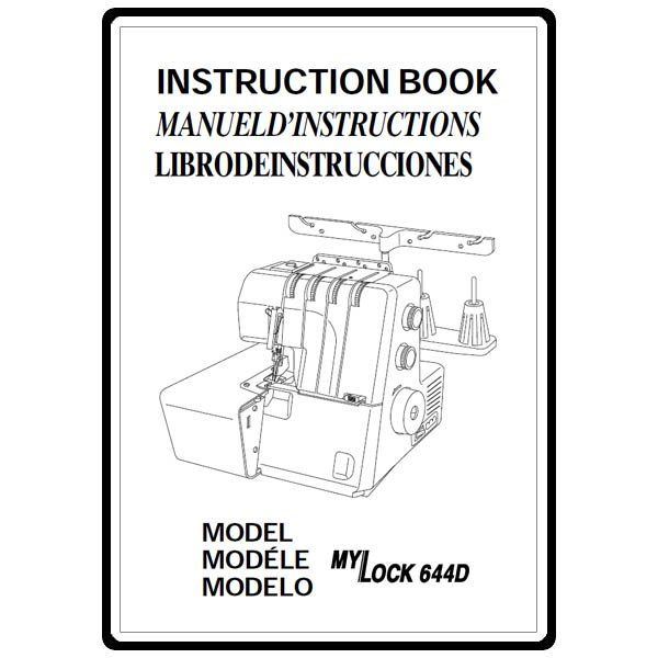 Instruction Manual, Janome (New Home) 644D : Sewing Parts