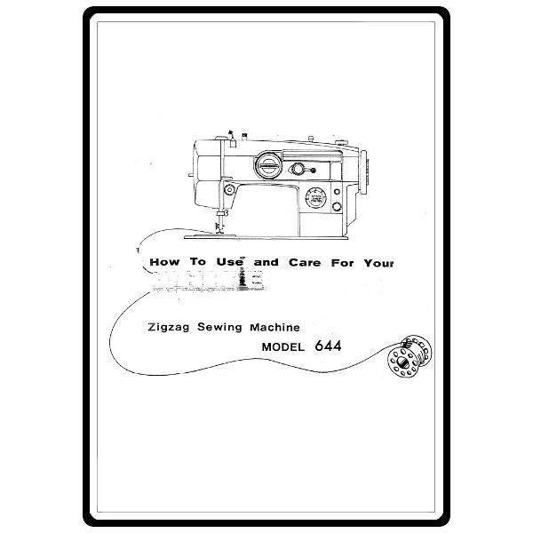 Instruction Manual, White 644 : Sewing Parts Online