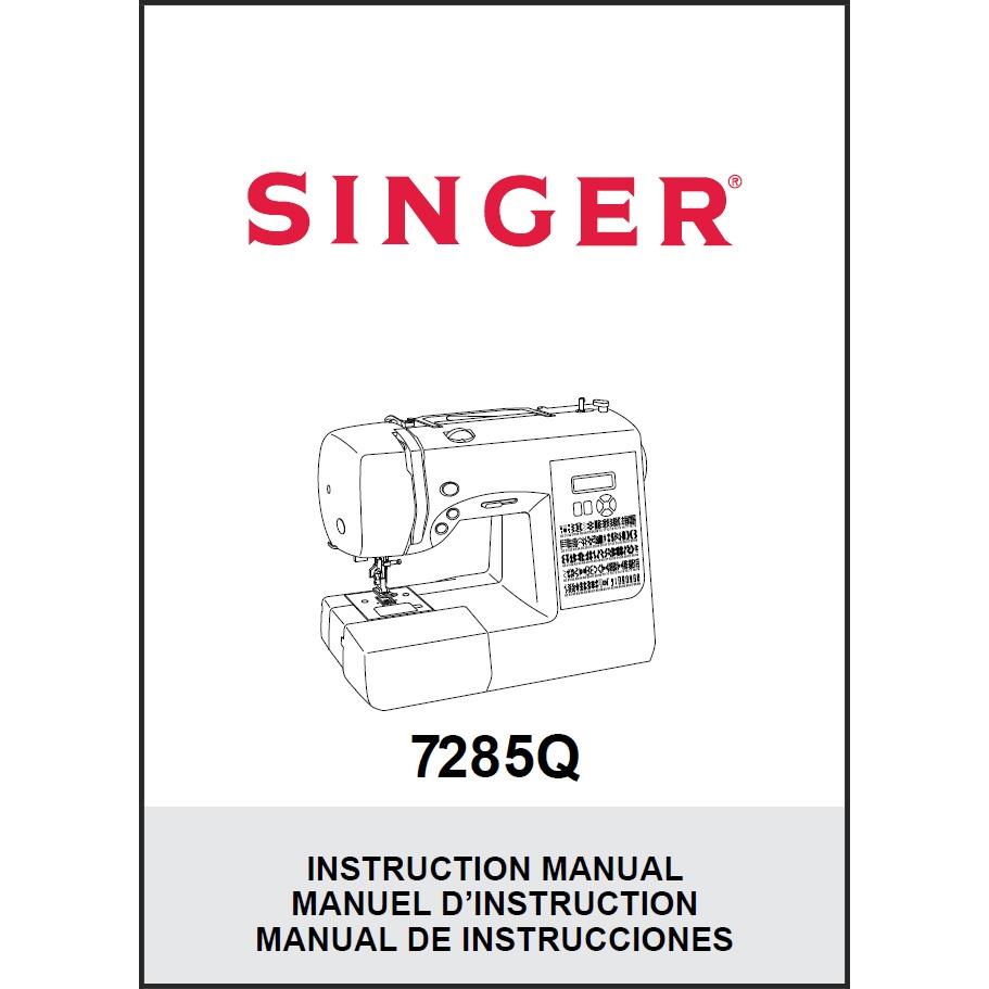 Instruction Manual, Singer 7285Q : Sewing Parts Online