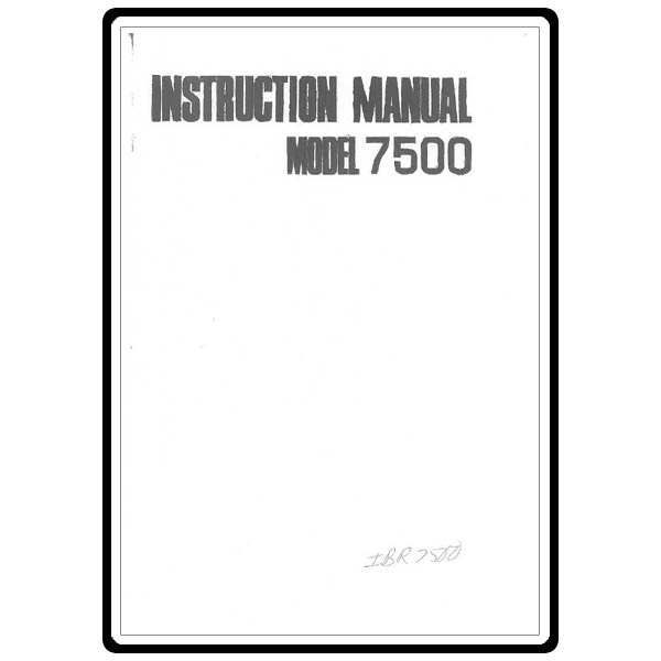 Instruction Manual, Euro Pro 7500 : Sewing Parts Online