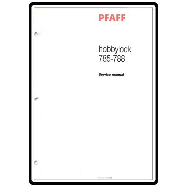 Service Manual, Pfaff 788 : Sewing Parts Online