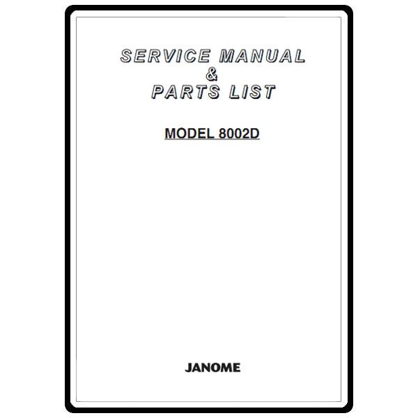 Service Manual, Janome 8002D : Sewing Parts Online