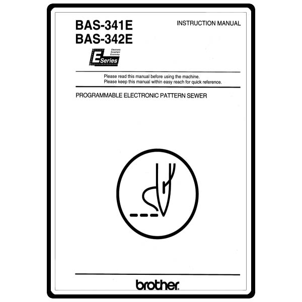 Instruction Manual, Brother BAS-341E : Sewing Parts Online
