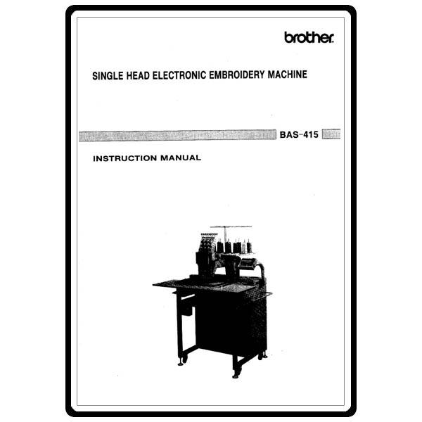 Instruction Manual, Brother BAS-415 : Sewing Parts Online