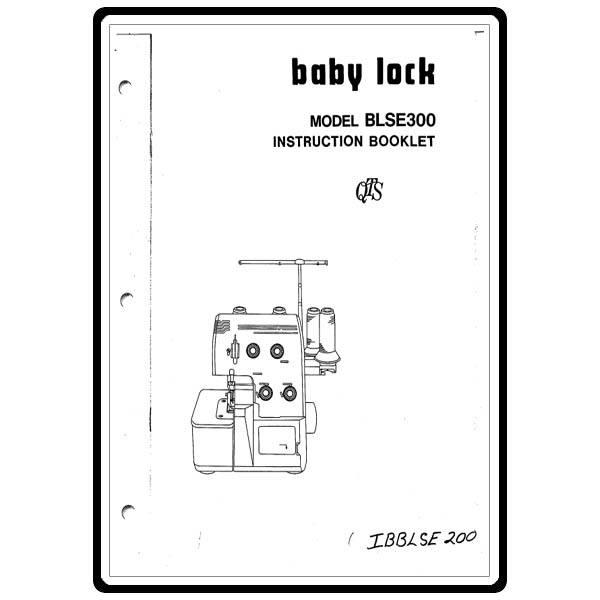 Instruction Manual, Babylock BLSE300 : Sewing Parts Online