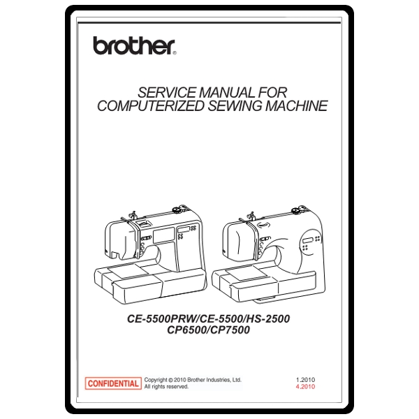 Service Manual, Brother CE5500 : Sewing Parts Online