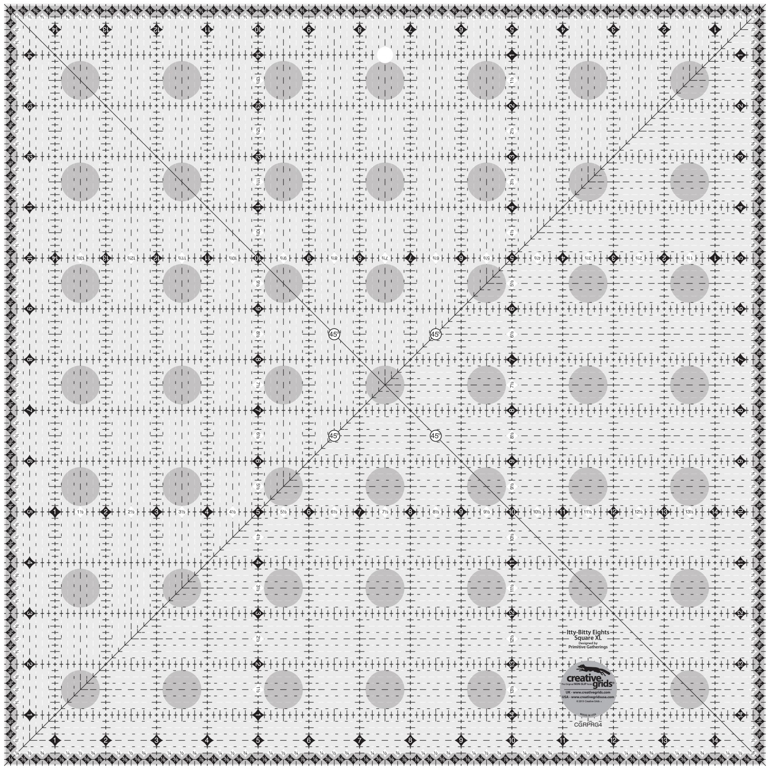 Itty Bitty Eights Square Ruler Xl 15in Creative Grids