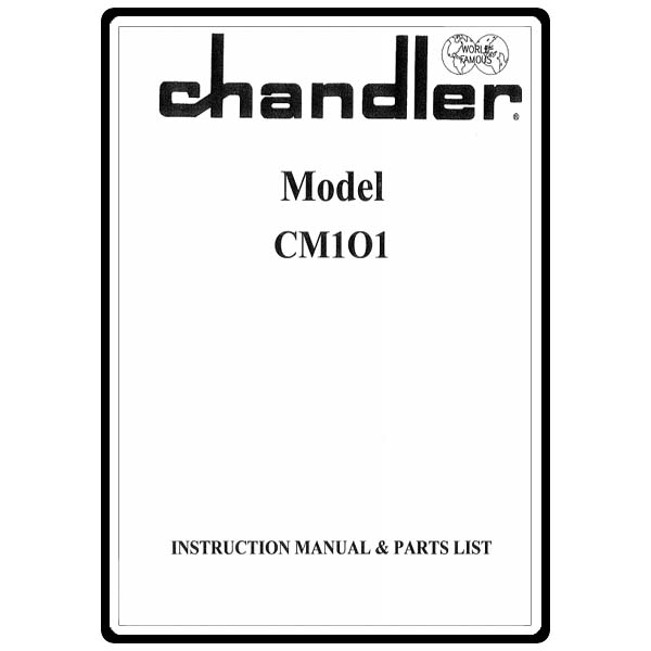 Instruction Manual, Consew CM101 Chandler : Sewing Parts