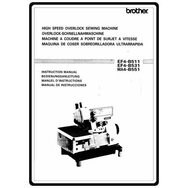 Instruction Manual, Brother Overlock EF4-B511 : Sewing