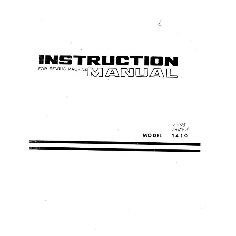 Instruction Manual, White 1410 : Sewing Parts Online