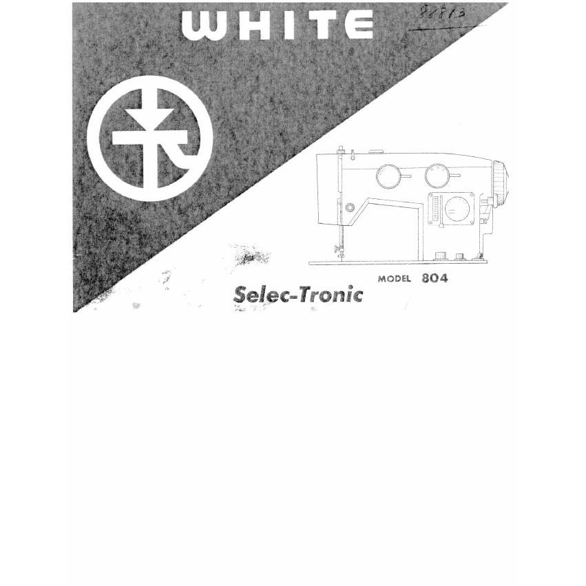 Instruction Manual, White 804 : Sewing Parts Online