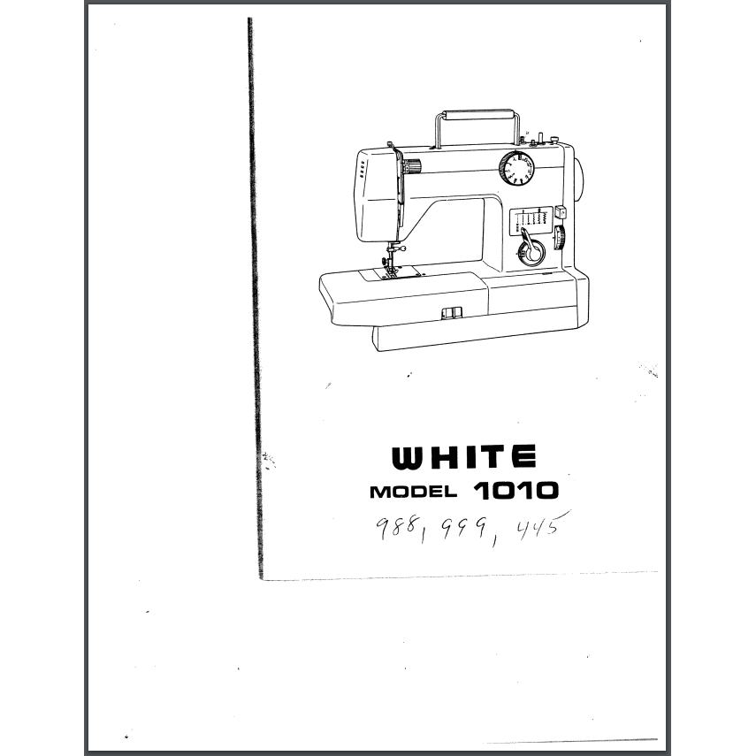 Instruction Manual, White 988 : Sewing Parts Online