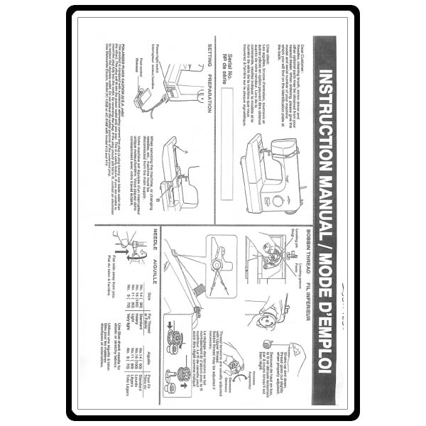 Instruction Manual, Babylock BL1506 : Sewing Parts Online