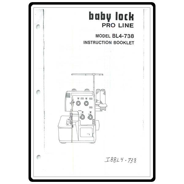 Instruction Manual, Babylock BL4-738 Pro Line : Sewing