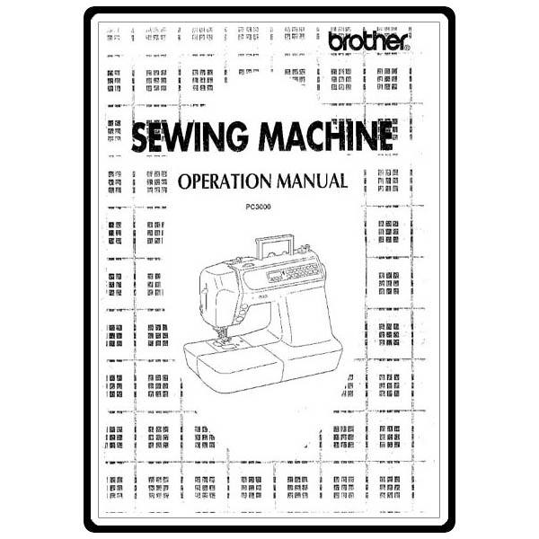Instruction Manual, Brother PC-3000 : Sewing Parts Online