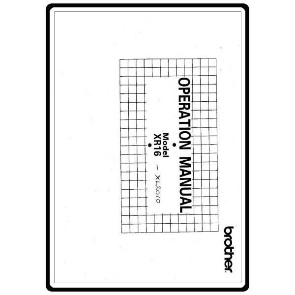 Instruction Manual, Brother XL-2010 : Sewing Parts Online