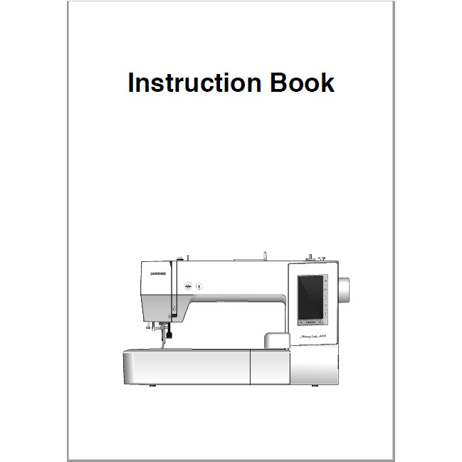 Instruction Manual, Janome MC400E : Sewing Parts Online
