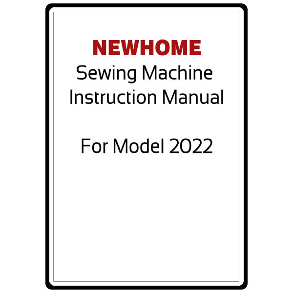 Instruction Manual, Janome (Newhome) 2018 : Sewing Parts