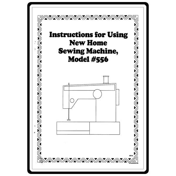 Instruction Manual, Janome (Newhome) 556 : Sewing Parts Online