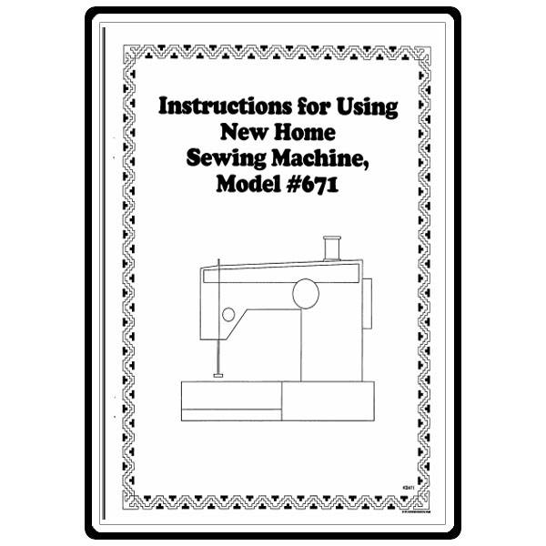Instruction Manual, Janome 671 : Sewing Parts Online