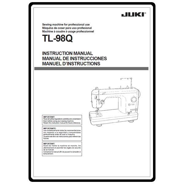 Instruction Manual, Juki TL-98Q : Sewing Parts Online