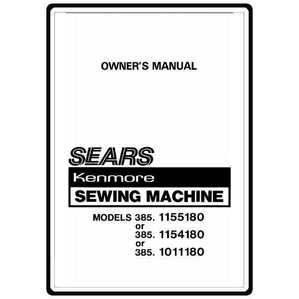 Instruction Manual, Kenmore 385.1011180 : Sewing Parts Online
