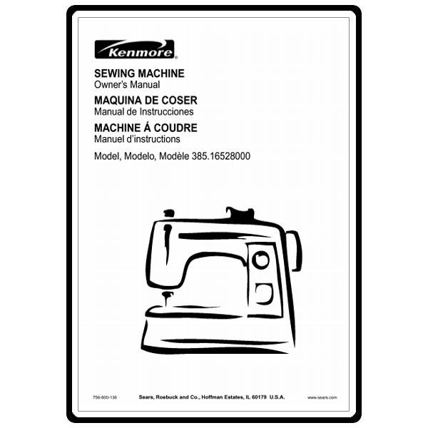 Instruction Manual, Kenmore 385.16528000 : Sewing Parts Online