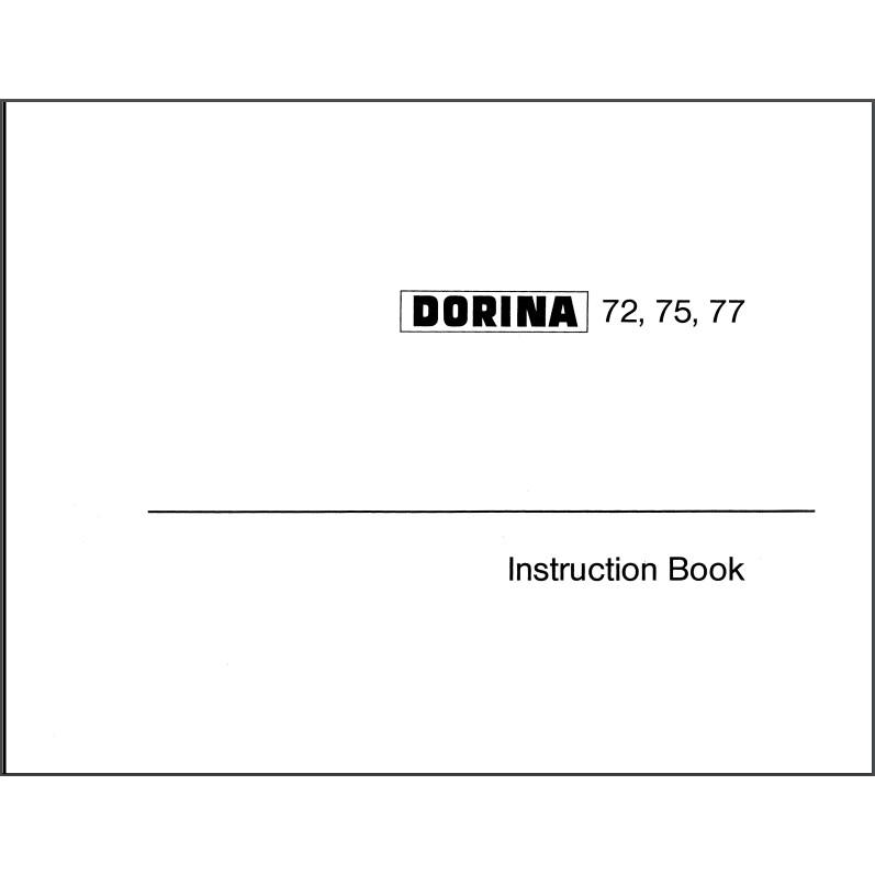 Instruction Manual, Pfaff Dorina 75 : Sewing Parts Online