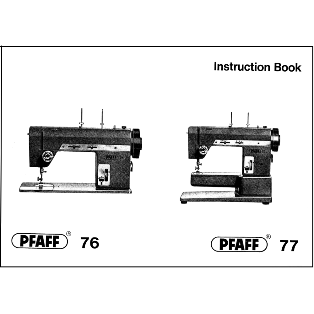 Instruction Manual, Pfaff 77 : Sewing Parts Online