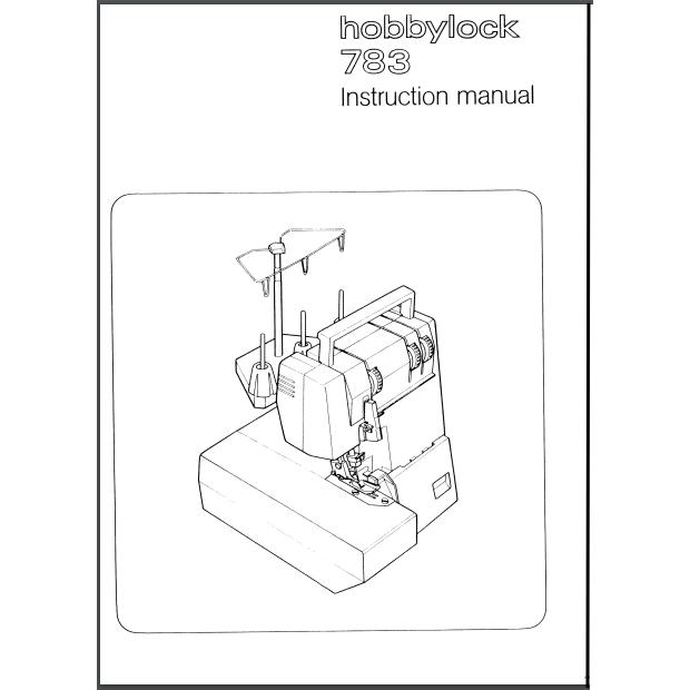 Instruction Manual, Pfaff Hobbylock 783 : Sewing Parts Online