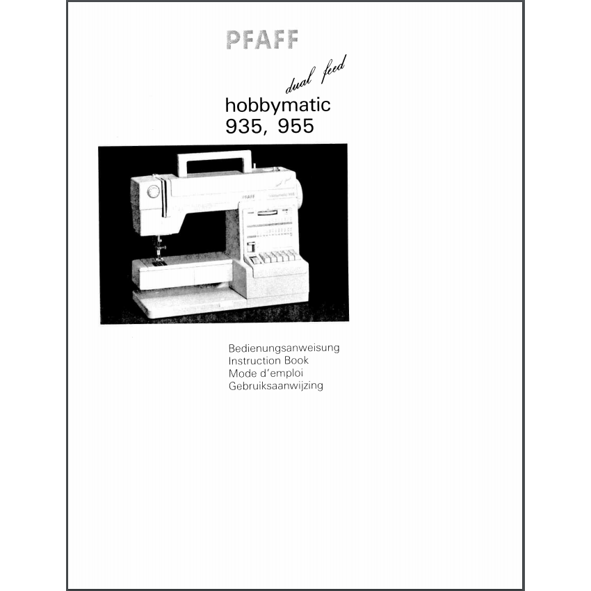 Instruction Manual, Pfaff Hobbymatic 935 : Sewing Parts Online
