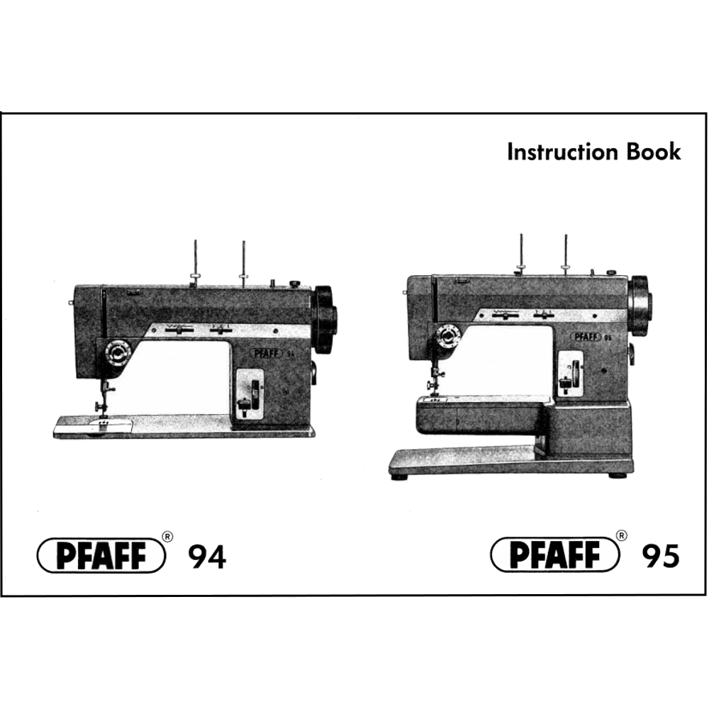 Instruction Manual, Pfaff 95 : Sewing Parts Online