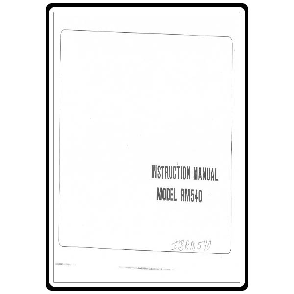 Instruction Manual, Riccar RM540 : Sewing Parts Online
