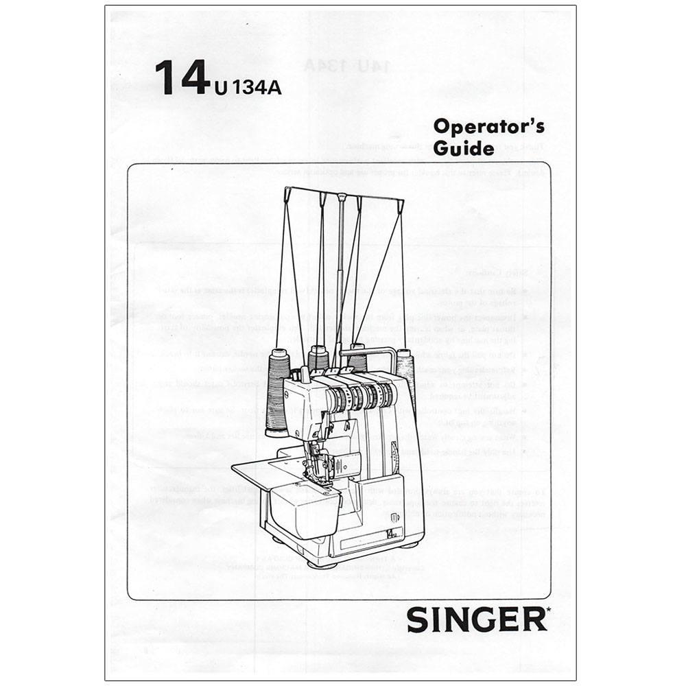Instruction Manual, Singer 14U134A : Sewing Parts Online