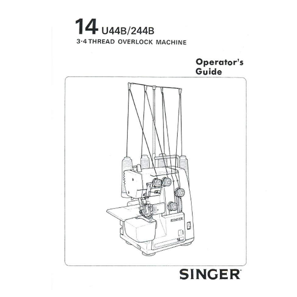 Instruction Manual, Singer 14U244B : Sewing Parts Online
