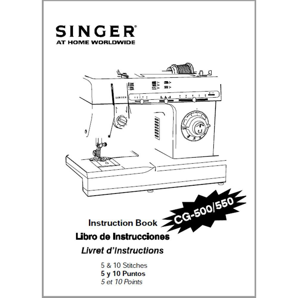 Instruction Manual, Singer CG-500 : Sewing Parts Online