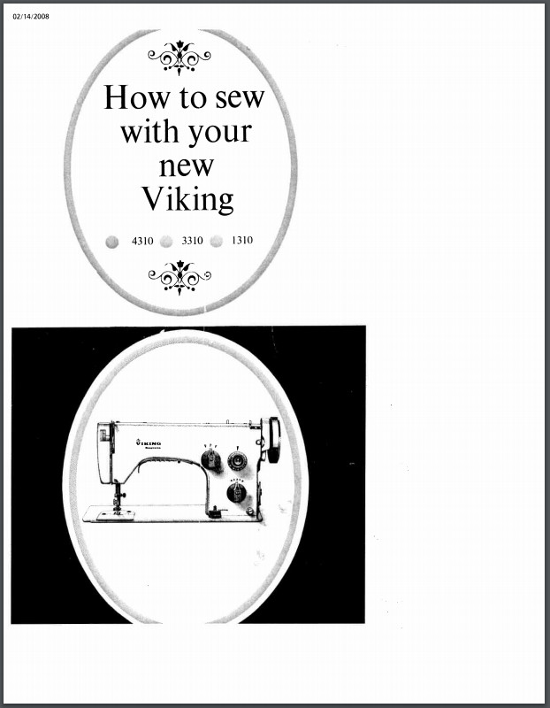 Instruction Manual, Viking 3310 : Sewing Parts Online