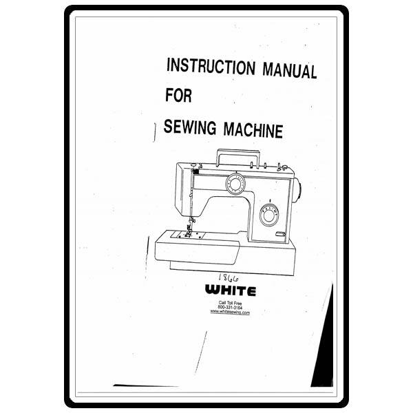 Instruction Manual, White 1866 : Sewing Parts Online